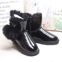 Winter New 100 Natural Australian Sheepskin Wool Snow Boots Warm Non Slip Women Boots Low Boots