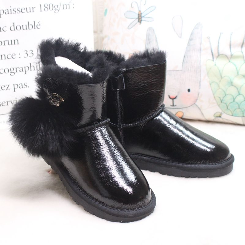 Winter new  natural Australian sheepskin wool snow boots warm non slip