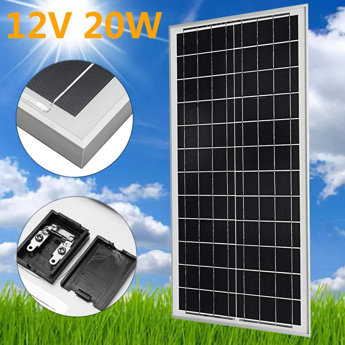 KINCO Steady 12V 20W Polycrystalline Solar panels High Conversion Rate DIY Solar Power System For Housing Car Battery 100w 12v monocrystalline solar panel for 12v battery rv boat car home solar power