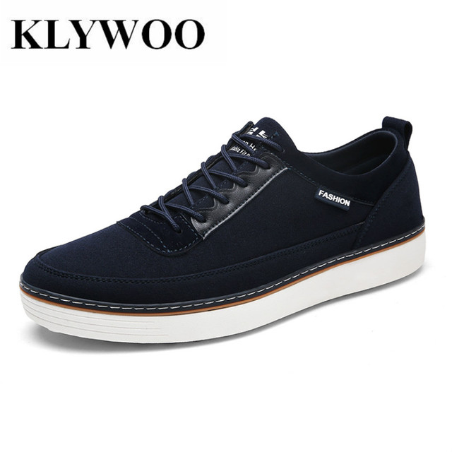 Klywoo tamaño grande 39-46 moda Zapatos de cuero hombres Encaje hasta cómodo marca mens casual Zapatos sneakers hombres Mocasines transpirable