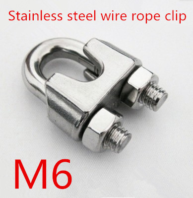 10pcs/lot m6 6mm Stainless Steel 304 DIN741 U type Wire Rope Clip ...