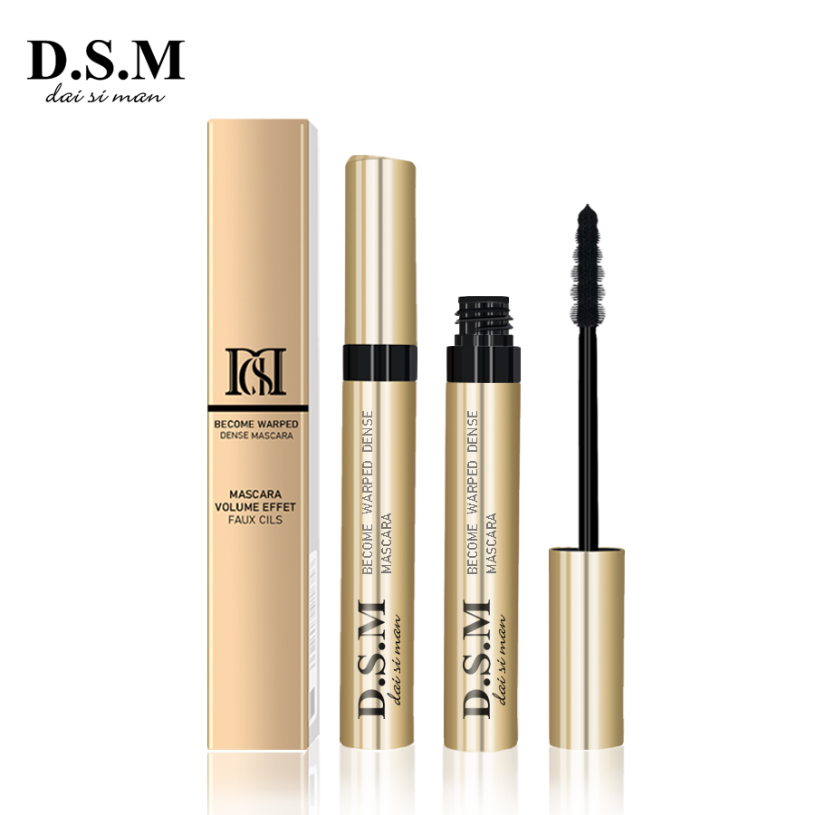 D.S.M Brand New Non-sbavature di Trucco Mascara di Curling Naturale Gli Occhi di Bellezza di Trucco di Estensione Del Ciglio Nero Impermeabile Mascara Eye