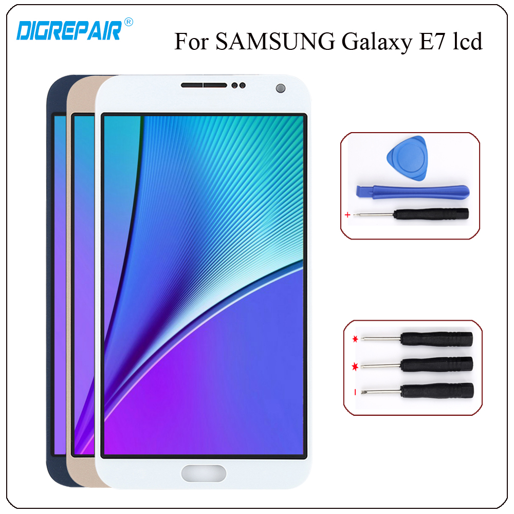 For Samsung Galaxy E7 Display E700 Lcd E700f E700m E700h Touch Screen Digitizer Assembly Repair Parts 100 Tested In Mobile Phone Lcds From