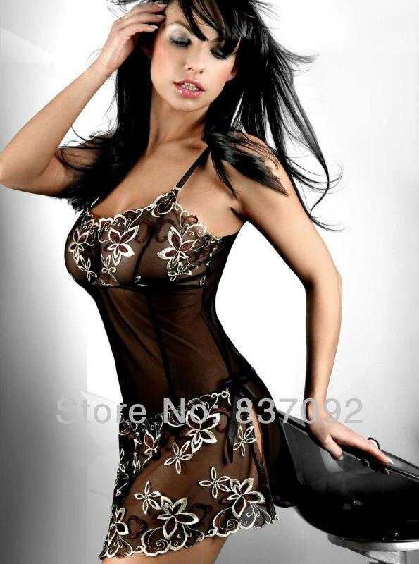 Leverans inom en dag heta försäljning Plus storlek S-6XL underkläder Babydoll Chemise Nattklänning Nattkjole klänning Underkläder -7088