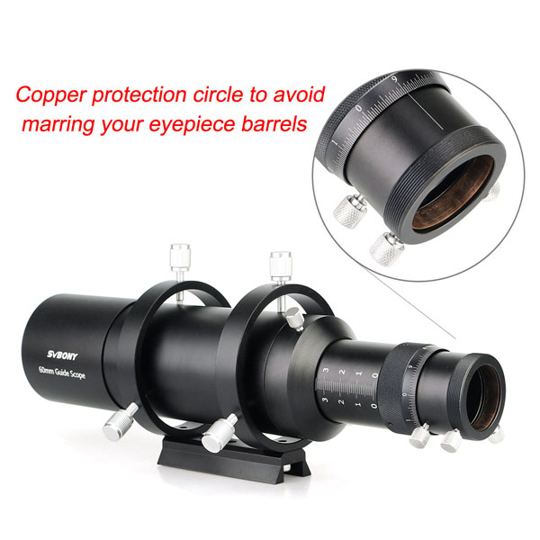 60mm Compact Deluxe Guide Scope Finderscope w1.25 Double Helical Focuse (13)