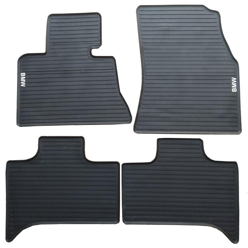 Tapis de sol en caoutchouc imperméable antidérapant pour voiture BMW X5 X6 E53 E70 F15 E71