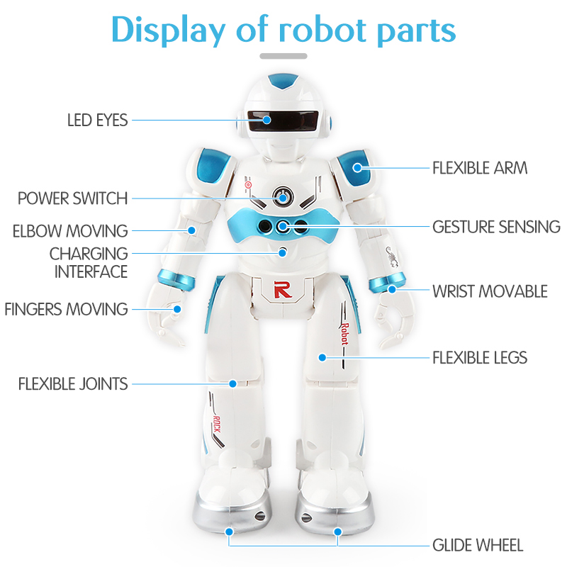New USB Charging Robot Dancing Singing Story Book Gesture Action Figure Control RC Robot Toy for Boy