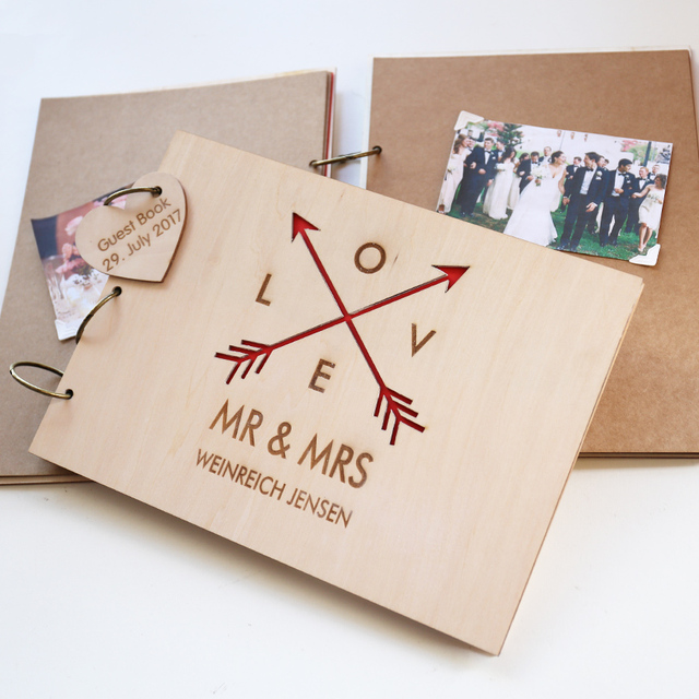 PersonalisedGuest Book Wooden Guest Book Wedding Guest Book Gift for - guest books wedding
