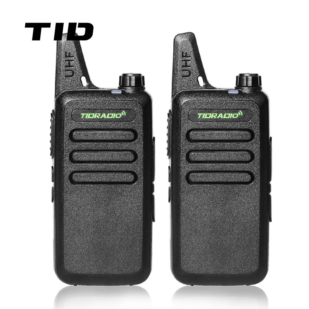 Міні Walkie Talkie TID Radio TD-M8 Двухбаковы радыё UHF 400-470MHz Камунікатар CB Ham Radios HF Прыёмаперадатчык