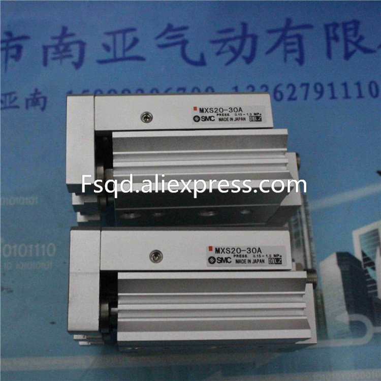 MXS20-10AS MXS20-20AS MXS20-30AS MXS20-40AS MXS20-50AS SMC air Slider cylinder pneumatic component, Have stock original authentic slider cylinder 13 mxq12 20as