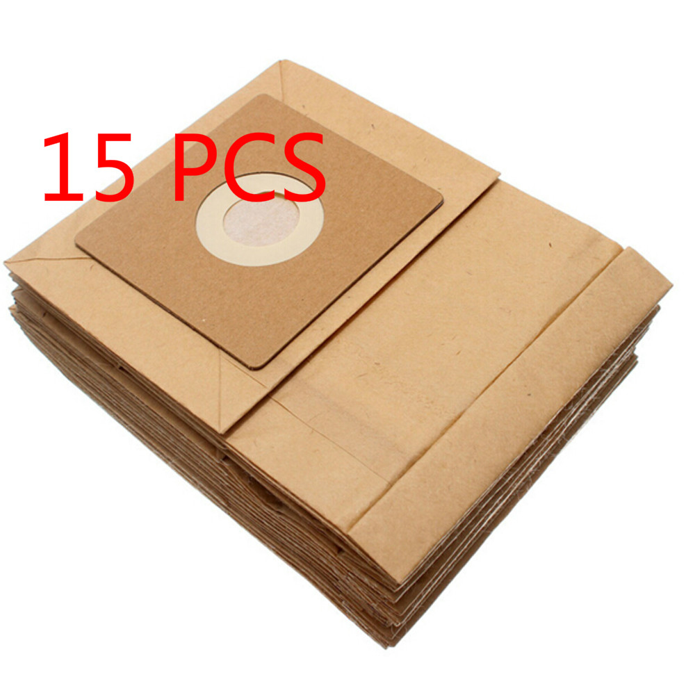 NTNT 15 Pcs General Vacuum cleaner dust paper bags 100*110mm Diameter 50mm Vacuum cleaner accessories parts 15 pcs vacuum cleaner paper dust bags
