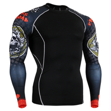 2015 hot 3d full length paint yoga clothing cycling base layer t shirt men ukraine crossfit