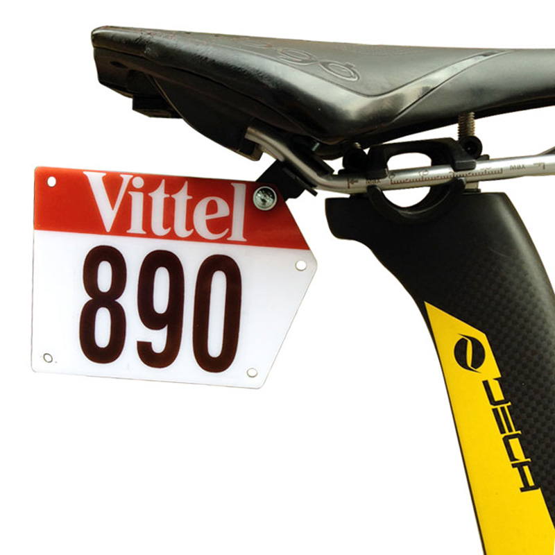 Road Bike Triathlon Race Bicycle Number Plate Mount Holder Plate Holder Card Bracket For Saddle or Custom Plate Vittel Decals