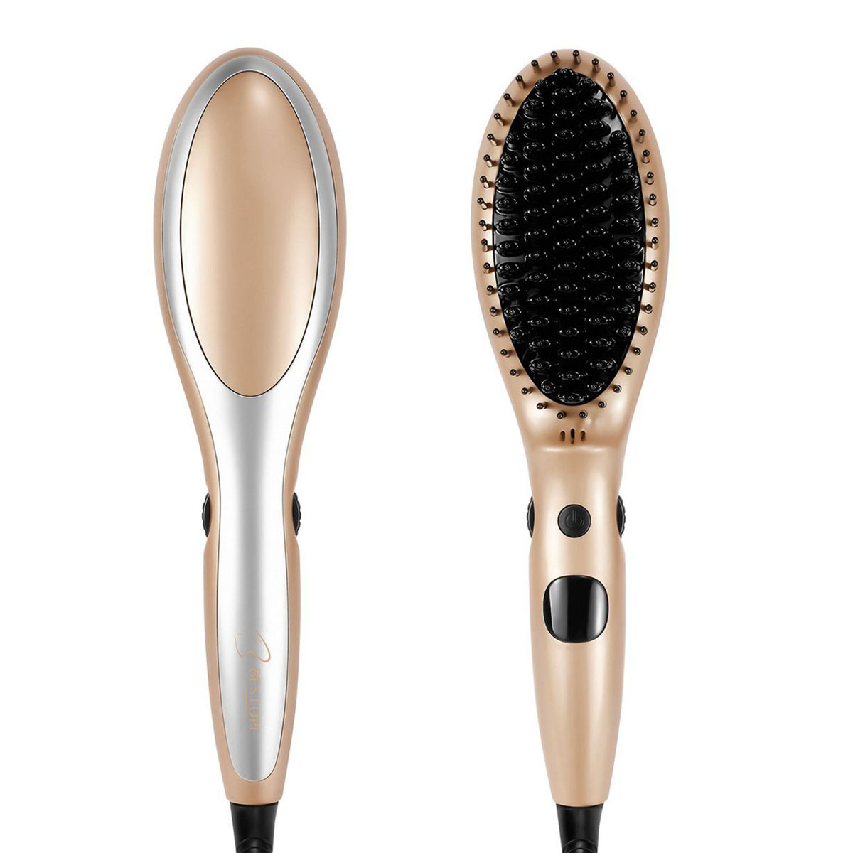 Electric Hair Straightener Comb Auto Lock Temperature Heating Hair Care Styling Straightening Brush With Accessories @ME