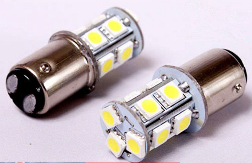 CYAN SOIL BAY 1Pc BA15D 13 SMD 5050 Car Led Lights Brake Tail Lamps 13SMD Auto Rear Reverse Bulbs white amber blue 2pcs brand new high quality superb error free 5050 smd 360 degrees led backup reverse light bulbs t15 for jeep grand cherokee