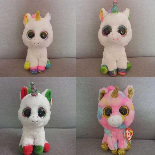 5078cf5e025 Ty Beanie Boos Cute Unicorn Owl MonkeyCat Fox Dog Rabbit Giraffe Panda  Kangaroo Plush Toy Doll Stuffed   Plush Animals. 1 order