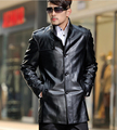 New autumn stand collar PU leather jacket high quality casual mens faux leather jackets and coats slim male coat large size 4XL