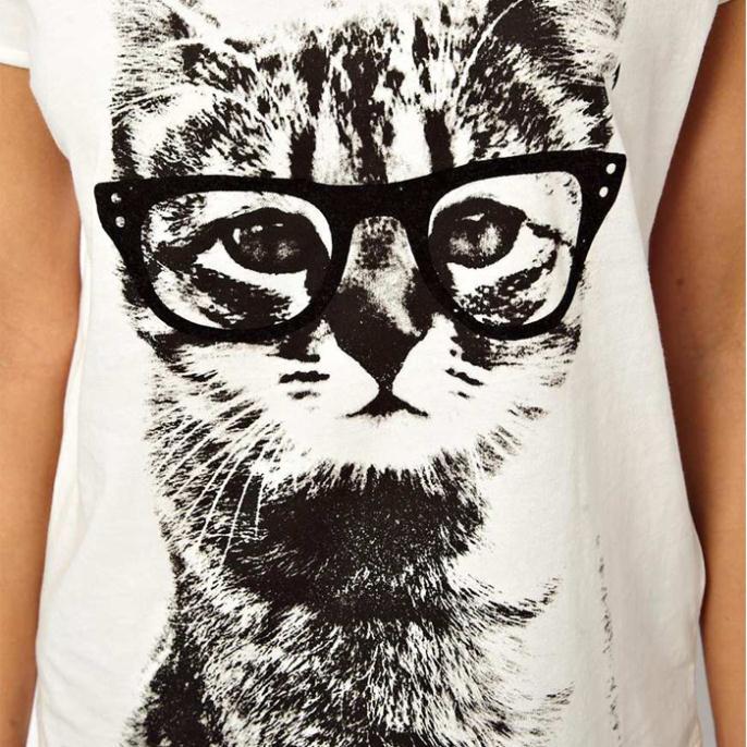 5a5730b0b American Apparel Graphic Tees Women Summer Cotton Fashion Cat Print White T  shirt Short Sleeve T Shirts Tshirt Plus Size XL XLL-in T-Shirts from Women's  ...