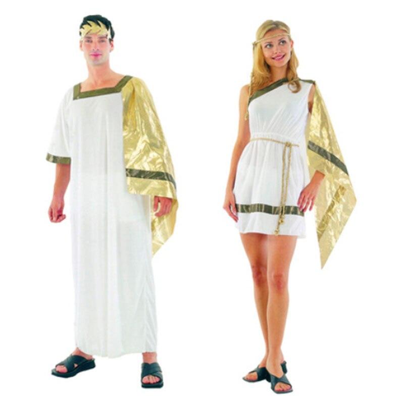 Women Ladies Men Boy Girls Greek Roman Costume Grecian Goddess Cosplay Costume  Family Party Decor Purim Halloween Christmas