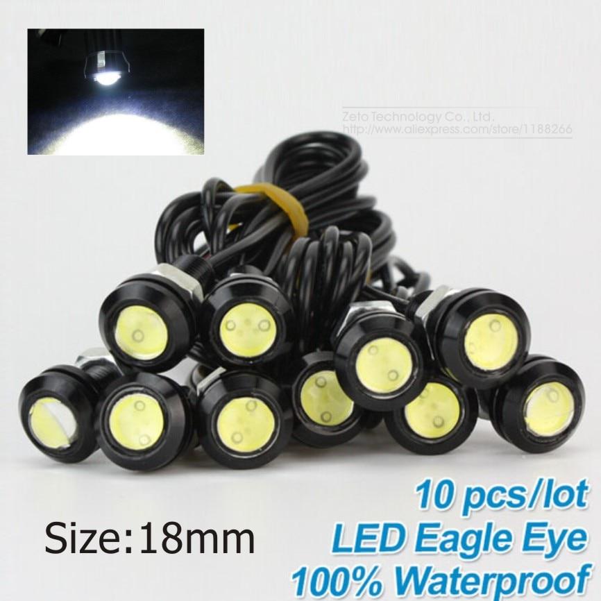10x High Brightness DRL 18mm Eagle Eyes Daytime Running Light LED Car Work Lights Source Waterproof Parking Lamp Car Styling