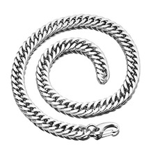 14/16/18mm Men's Cool Stainless Steel Xxxtentacion Tail Hip Hop Rapper Necklace Or Bracelet Double Cuban Cuban Chain Choker New