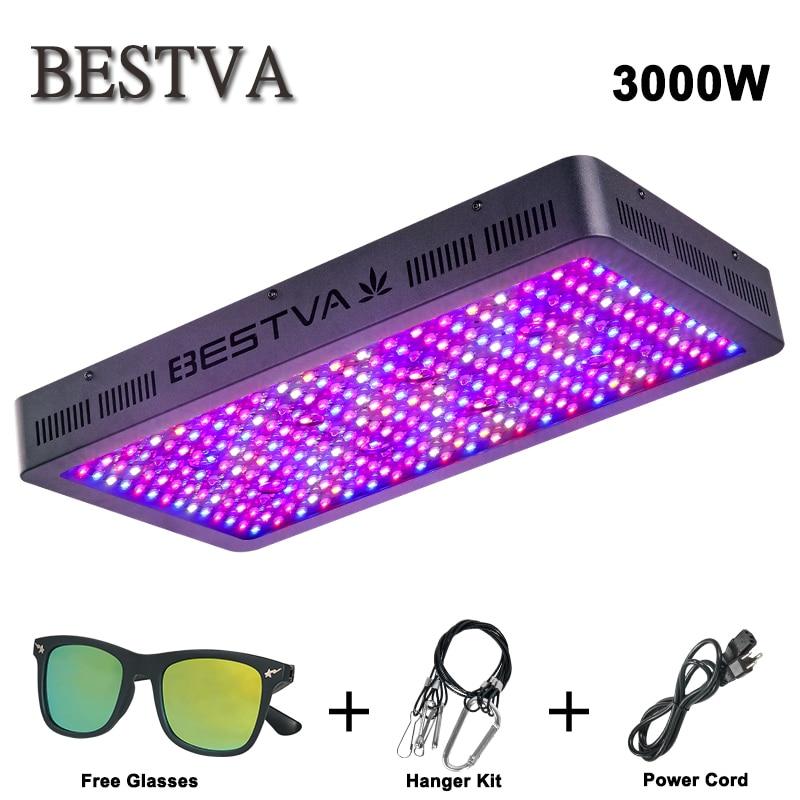 BESTVA 3000 w conduit grandir lumière spectre complet pour les plantes d'intérieur de Serre tente de culture Hydroponique veg fleur remplacer 2000 watts HPS/MH