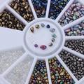 Camaleón Color Mezclado Pequeña Irregular Perlas Rhinestone 3D Decoración Del Arte Del Clavo en la Rueda de Accesorios de Decoración de Uñas de Manicura DIY
