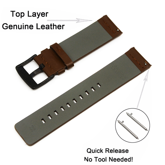 Genuine Classic Leather Strap For Samsung Gear S3 Band Frontier Strap For Gear S3 Classic Watchband 22mm Watch Bracelet