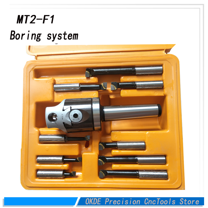 High precisionMT2 F1 Type Rough Boring Head with MT2 Shanks inch size boring system with 9pcs