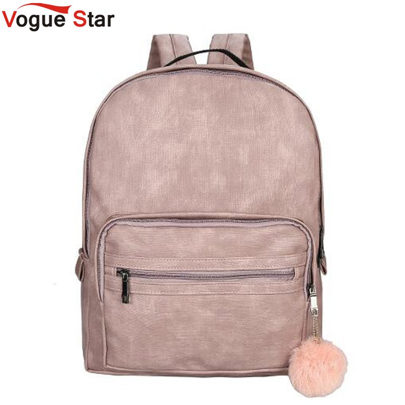 Backpack Women School Large Backpack Female Leisure Bag Bagpacks For Teenage Girls PU Leather Sac A Dos Back Pack Pink LB300