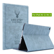 цена на NTSPACE for iPad Air 1 Magnetic PU Leather Smart Cover for iPad Air 2 Flip Case Auto Wake/Sleep Stand Holder for iPad 5 / 6 Case