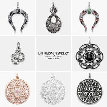 Twist Infinity Pendants, 2018 New Fashion Jewelry 925 Sterling Silver Ethnic Gift For Women Men Boy