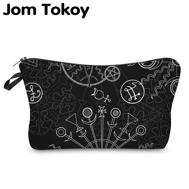 Jom Tokoy Cosmetic Organizer Bag Make Up Printing Special Symbol Cosmetic Bag Fashion Women Brand Makeup Bag Hzb917