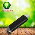 Mini PC wifi adaptador 802.11AC adaptador sem fio 1200 Mbps 2.4G & 5.8 GHz Dual Band USB 3.0 placa de rede sem fio cartão Dual-Freqüência wi-fi