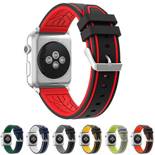 neway Rubber Strap Watchband For Apple Watch Iwatch band 38mm 42mm 40mm 44mm series 1 2 3 4  Silicone Sport Wristband belt цена и фото