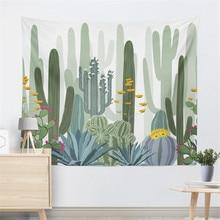 Cactus Watercolor Hanging Wall Tapestries Mandala Bohemian Tapestry Landscape Wallpaper Art Shawl Throw Blanket  Room Decor