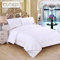 CLORIS Summer Silk Comforter Jacquard Blanket Bedding Quilt White Luxury Brand High Quality Cotton Winter Duvet King Queen Size