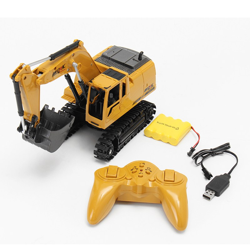 AO HAI 1/24 2.4Ghz 8CH Die-cast Remote Excavator Engineer Truck Toys For Kids Children Gift