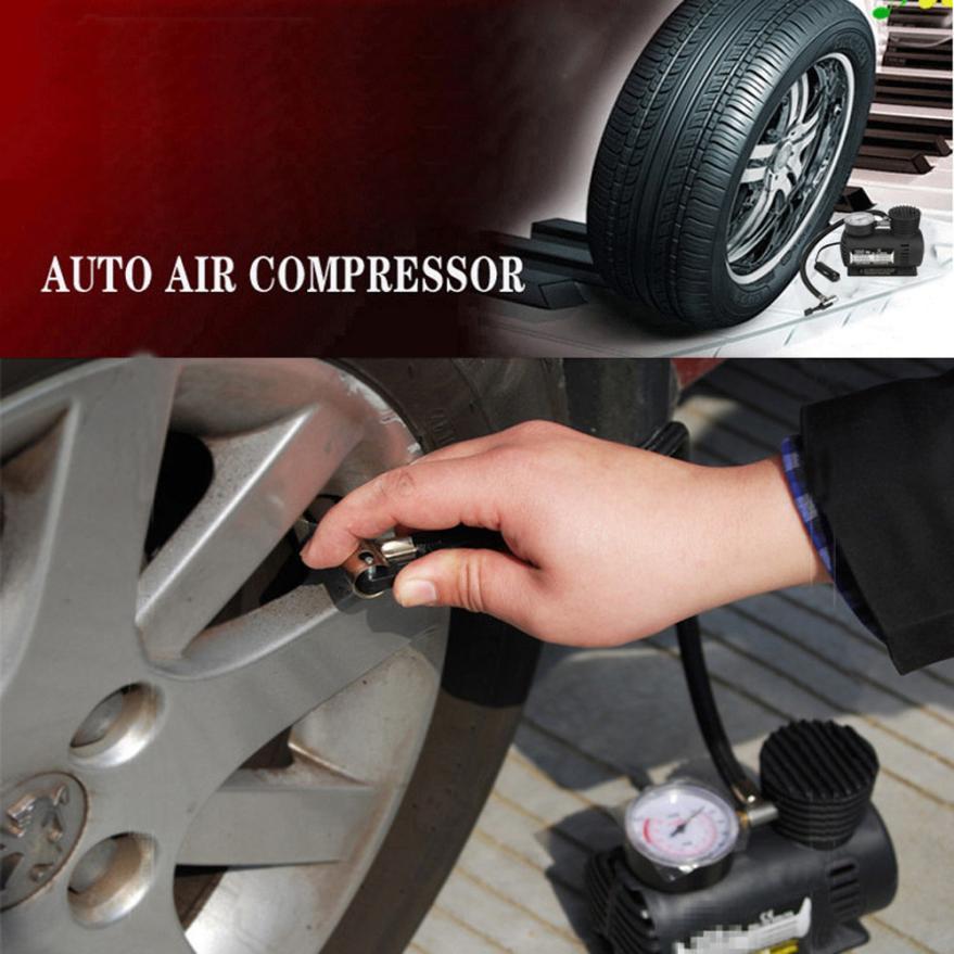 Car-styling 12v Car Electric Mini Compact Compressor Pump Bike Tyre Air Inflator...