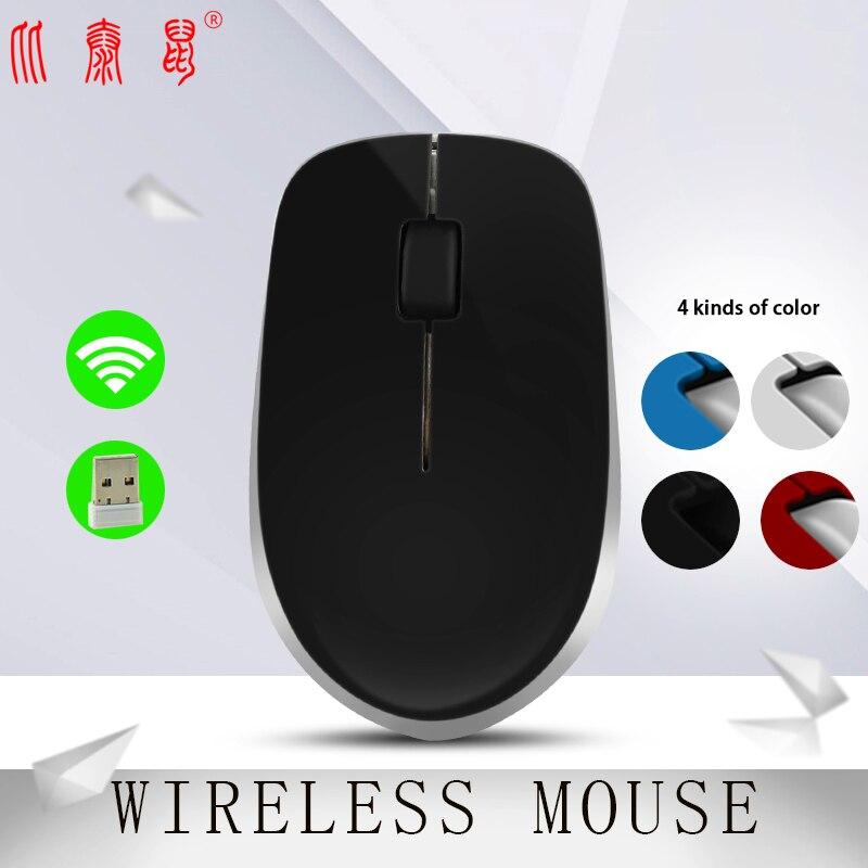 BTS-10Num profesional ratón óptico inalámbrico ratones ratón USB 2,4 GHz con el Mini USB para PC portátil de escritorio Win7/8 /10/XP/Vista