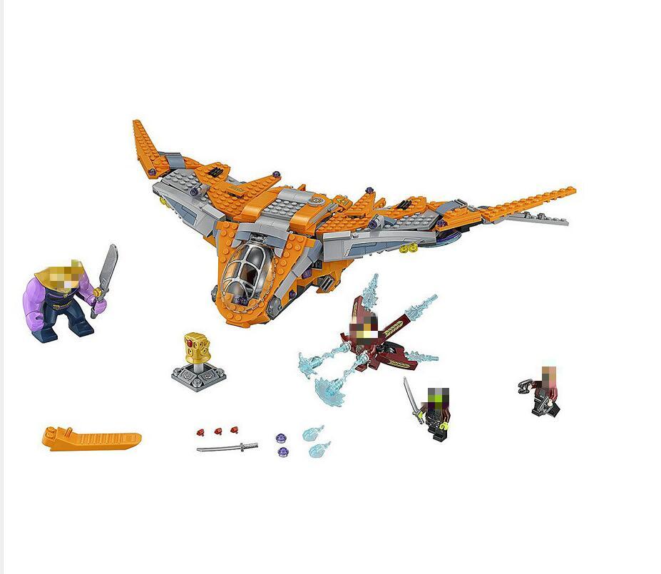 76107 Marvel Avengers War Thanos Ultimate Infinity Battle Building Blocks Toy Set Compatible with 07103 189pcs battle on saleucami barc speeder clone war building blocks set toy figure lepin 75037 compatible with lego star battle