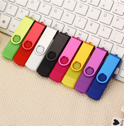 2 in 1 USB OTG Pen Drive rotatable USB Flash Drive 8GB 16gb 32gb 64gb 128GB Memory sticks pen for Android phone tablet image
