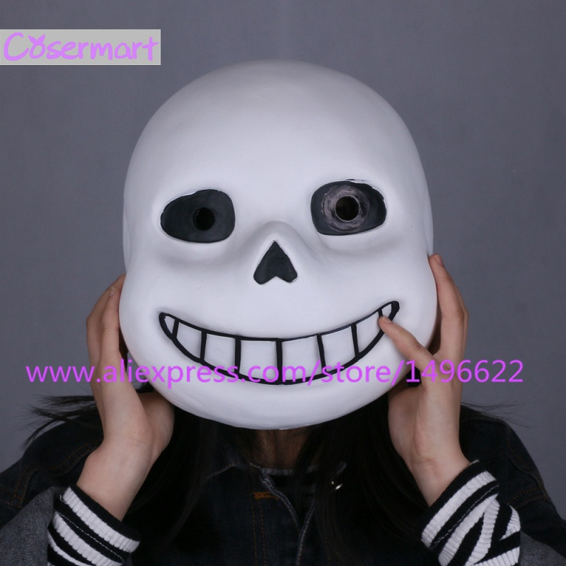 Horká hra Undertale Mask Hard Latex Cosplay Sans helma Full Head - Kostýmy