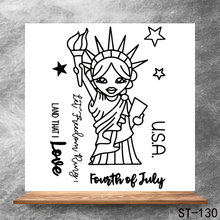Statue of Liberty blessing Transparent Clear Stamps DIY Scrapbooking Album Card Making Decoration Embossing Stencil