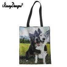Border Collie Dog Print Women Shopping Bag Shoulder Bags Eco-Friendly Shop Handbag Totes Book Bag Best Friend Gifts DropShipping