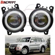 2x angel eye carro estilo de nevoeiro lâmpadas iluminação led luzes para mitsubishi l200 triton outlander 2 pajero 4 galant grandis