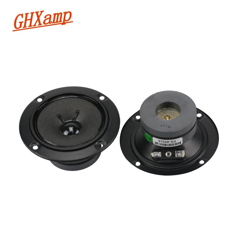 GHXAMP MD4902A-BMB Tweeter Speaker Unit 8OHM 30W Kara ok Sound Treble Loudspeaker Speaker HIFI 800hz--20khz 2PCS ghxamp 3 inch 4ohm 30w midrange speaker car speaker mid human voice sound good loudspeaker for lg diy 2pcs