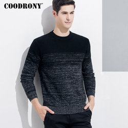 COODRONY hommes Pull cachemire Pull hommes 2018 hiver noël épais chaud laine mérinos chandails mode o-cou Pull Homme 8337