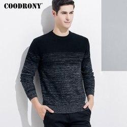 COODRONY suéter de cachemira para hombre 2018 invierno Navidad grueso cálido lana Merino suéteres moda cuello redondo Pull Homme 8337