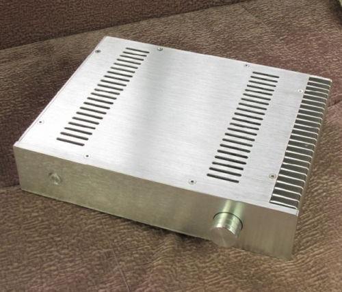 QUEENWAY BZ3207S CNC Full Aluminum Enclosure Unilateral heatsink /amplifier amplifier Case chassis 320*70*250mm 320mm*70mm*250mm 3206 amplifier aluminum rounded chassis preamplifier dac amp case decoder tube amp enclosure box 320 76 250mm